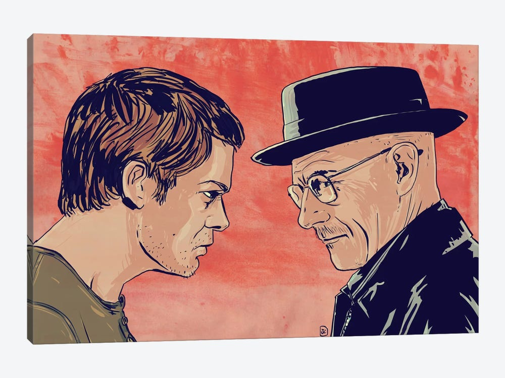 Dexter & Morgan by Giuseppe Cristiano 1-piece Canvas Wall Art