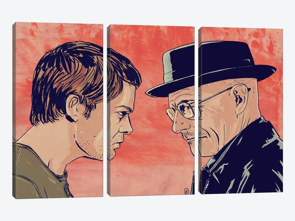 Dexter & Morgan by Giuseppe Cristiano 3-piece Canvas Art