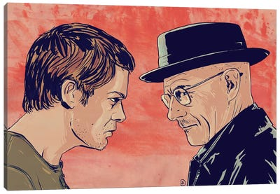 Dexter & Morgan Canvas Art Print