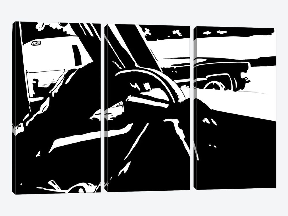 Driving I by Giuseppe Cristiano 3-piece Canvas Print