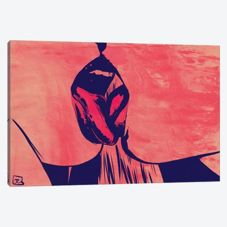 Tongues Canvas Print #JCR129} by Giuseppe Cristiano Canvas Wall Art