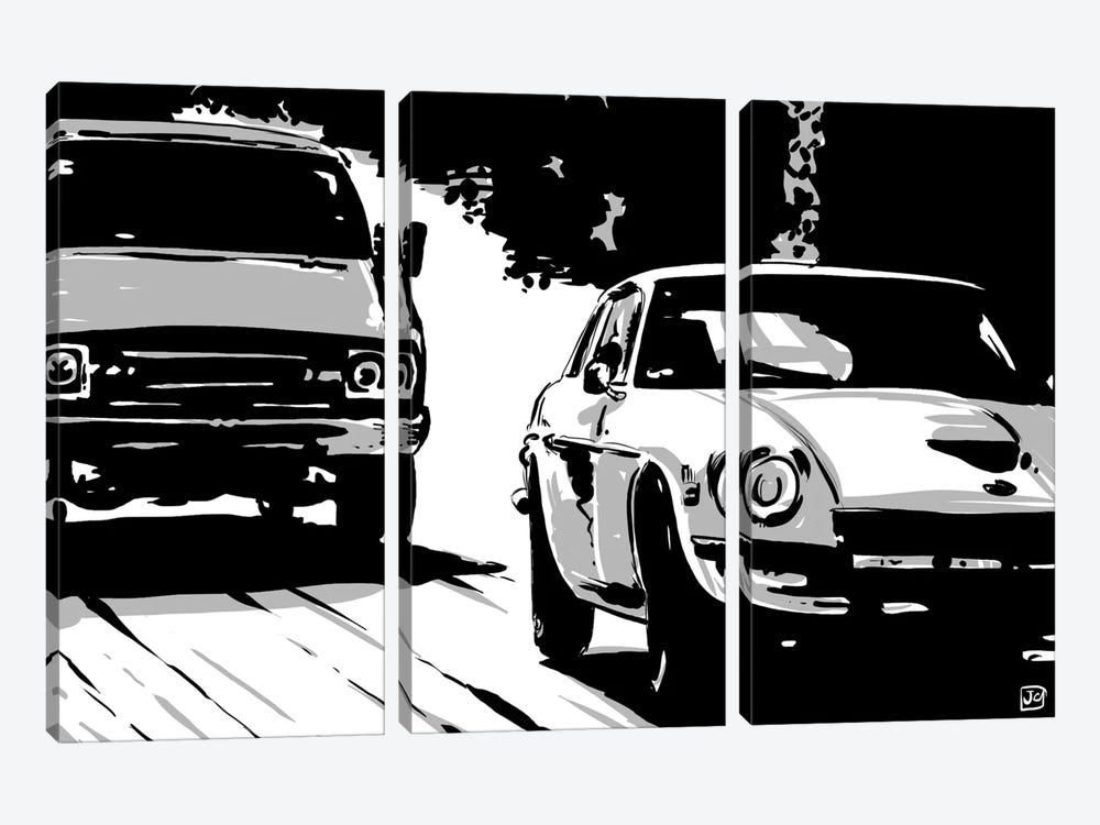 Driving II by Giuseppe Cristiano 3-piece Canvas Wall Art