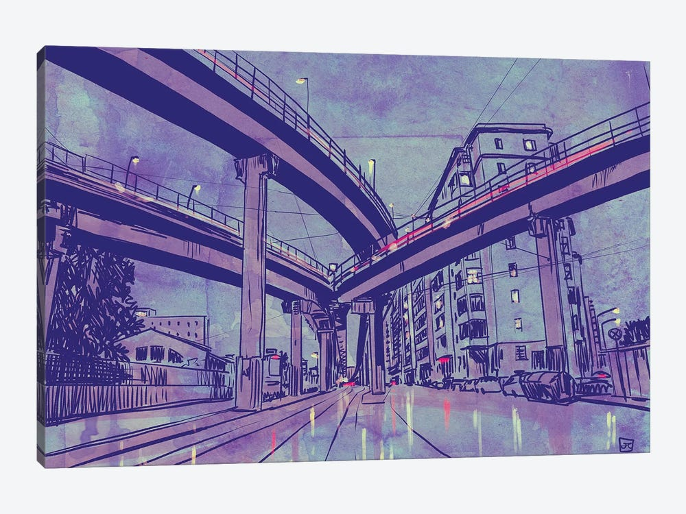 Urban Landscape by Giuseppe Cristiano 1-piece Art Print