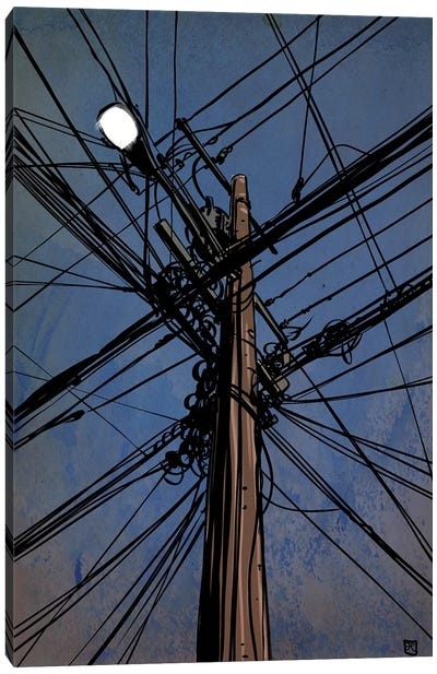 Wires III Canvas Art Print