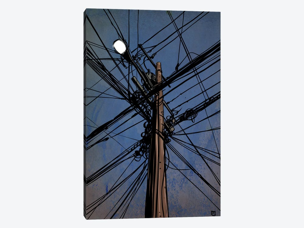 Wires III by Giuseppe Cristiano 1-piece Canvas Art
