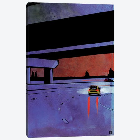 Cars VII Canvas Print #JCR142} by Giuseppe Cristiano Canvas Artwork