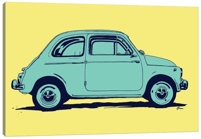 Fiat 500 by Giuseppe Cristiano Canvas Art Print