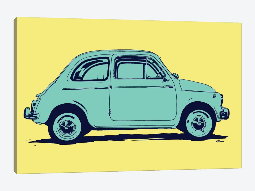 Fiat 500 by Giuseppe Cristiano 1-piece Canvas Art