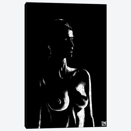 Nude In The Dark Canvas Print #JCR155} by Giuseppe Cristiano Canvas Art