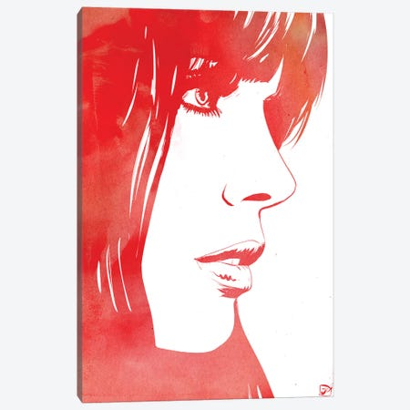 Profile In Red Canvas Print #JCR156} by Giuseppe Cristiano Canvas Wall Art