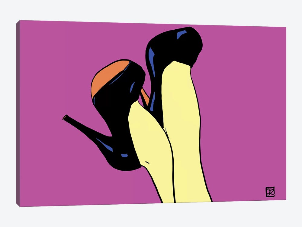 Shoes Up! by Giuseppe Cristiano 1-piece Canvas Art