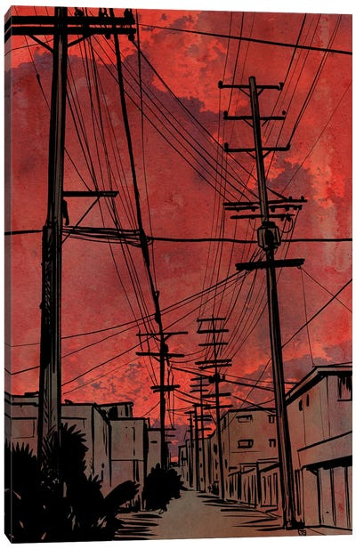 Wires IV Canvas Art Print