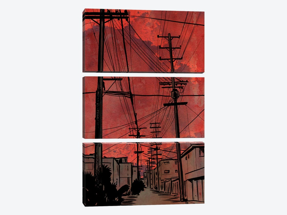 Wires IV by Giuseppe Cristiano 3-piece Canvas Art