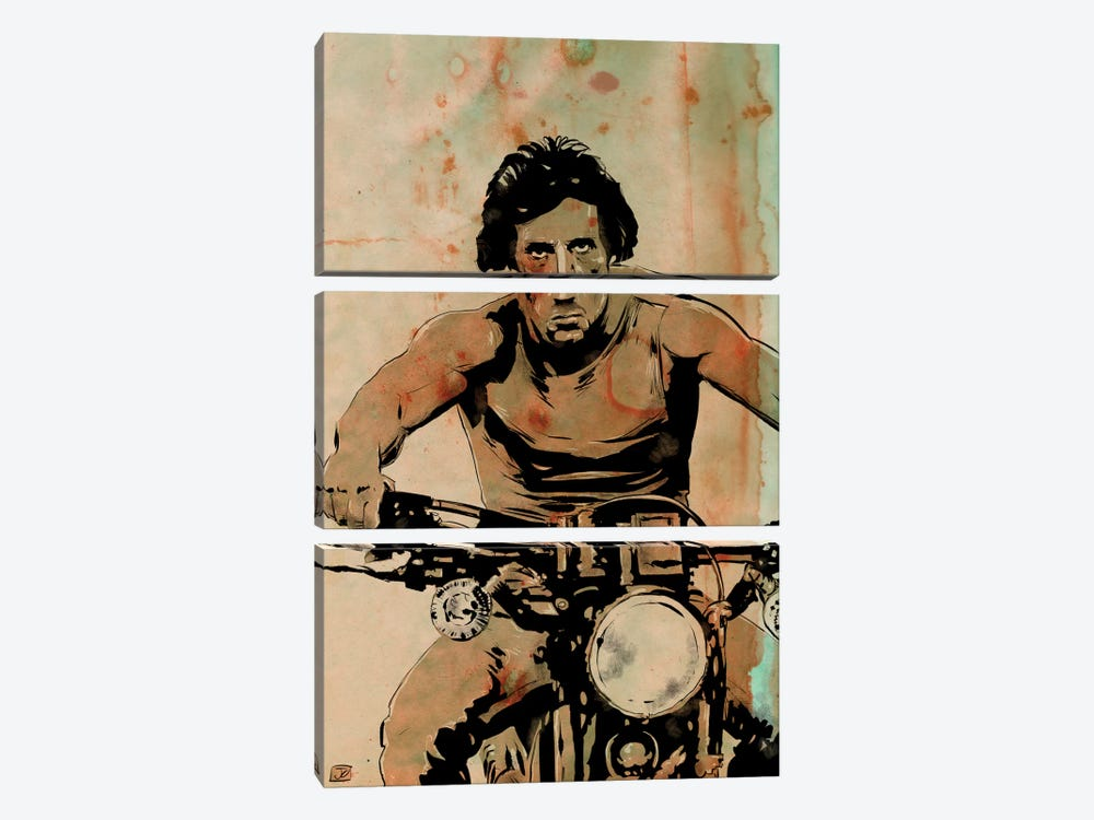 First Blood: John Rambo by Giuseppe Cristiano 3-piece Canvas Art