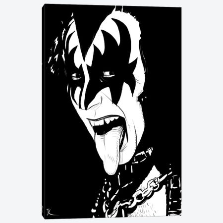 Gene Simmons Canvas Print #JCR18} by Giuseppe Cristiano Art Print