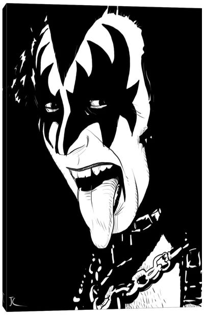 Gene Simmons by Giuseppe Cristiano Canvas Art Print