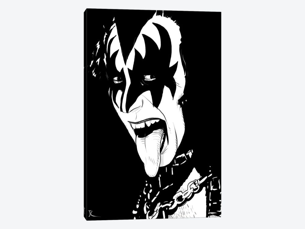 Gene Simmons by Giuseppe Cristiano 1-piece Canvas Art
