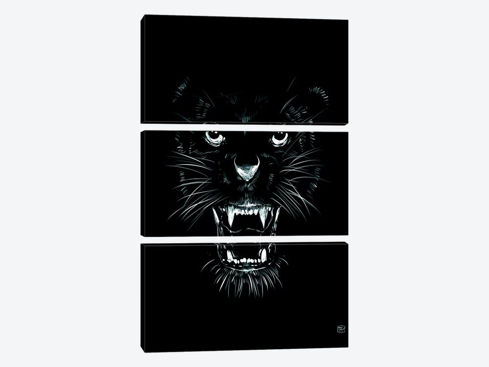 Beast by Giuseppe Cristiano 3-piece Canvas Print