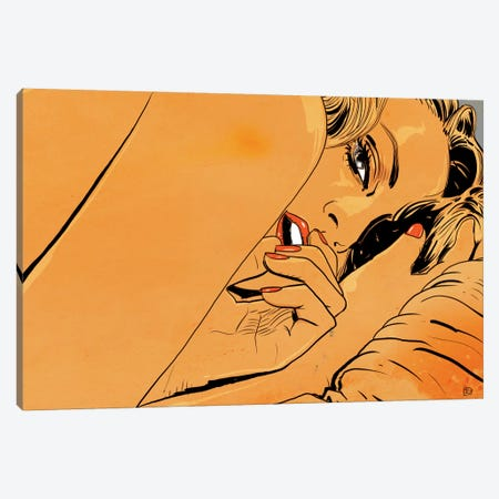 Girl In Bed I Canvas Print #JCR22} by Giuseppe Cristiano Canvas Wall Art