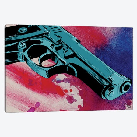 Gun CXI Canvas Print #JCR23} by Giuseppe Cristiano Canvas Wall Art