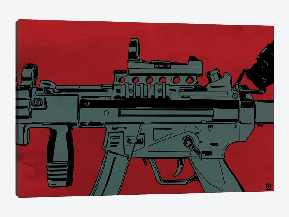 Gun Machine by Giuseppe Cristiano 1-piece Canvas Artwork