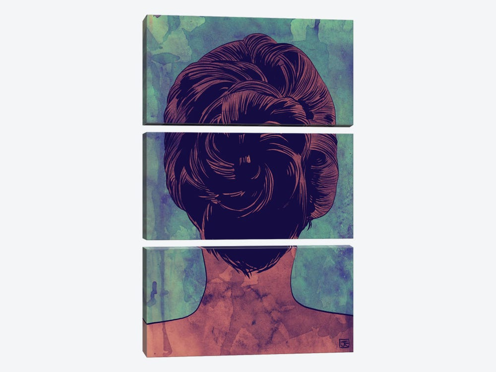 Hair by Giuseppe Cristiano 3-piece Canvas Art