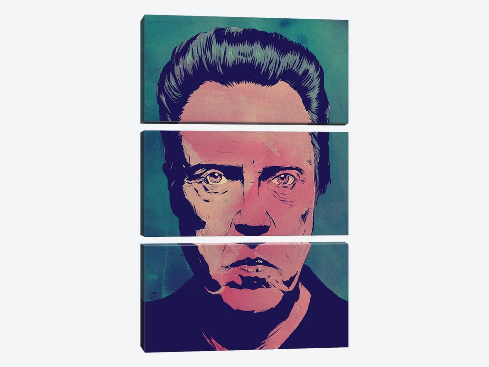 Christopher Walken by Giuseppe Cristiano 3-piece Canvas Wall Art