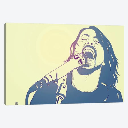 Dave Grohl Canvas Print #JCR31} by Giuseppe Cristiano Canvas Print