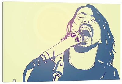 Icons: Dave Grohl Canvas Art Print