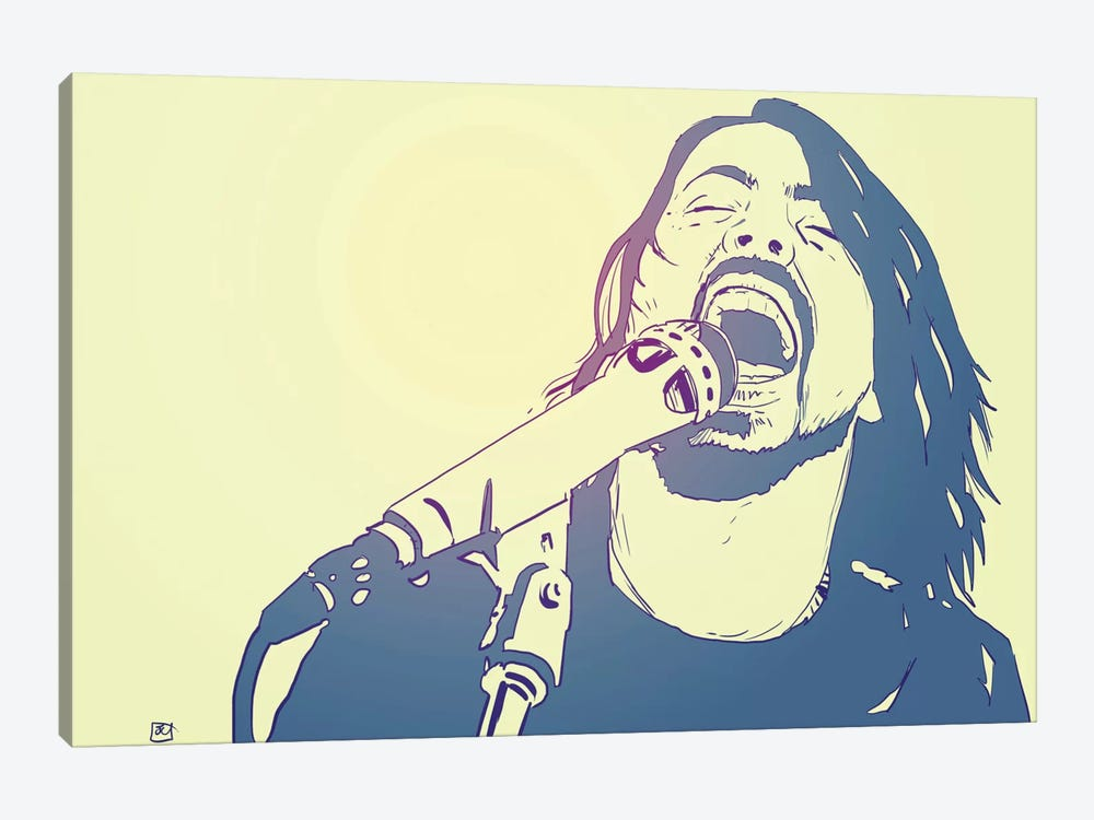 Dave Grohl by Giuseppe Cristiano 1-piece Canvas Art Print