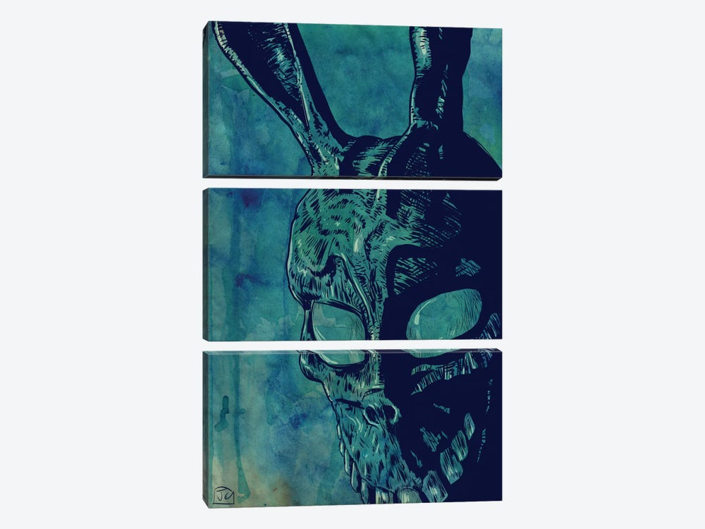 Icons: Donnie Darko by Giuseppe Cristiano 3-piece Canvas Wall Art