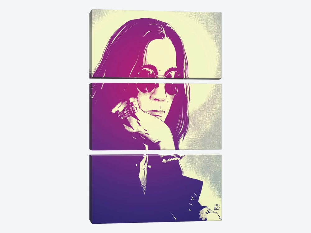 Icons: Ozzy by Giuseppe Cristiano 3-piece Canvas Art Print