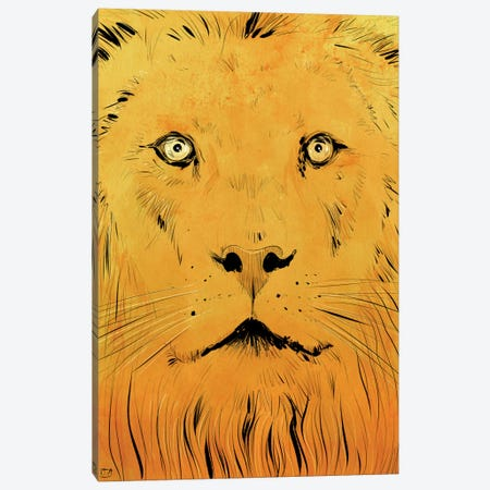 Lion Canvas Print #JCR40} by Giuseppe Cristiano Canvas Art