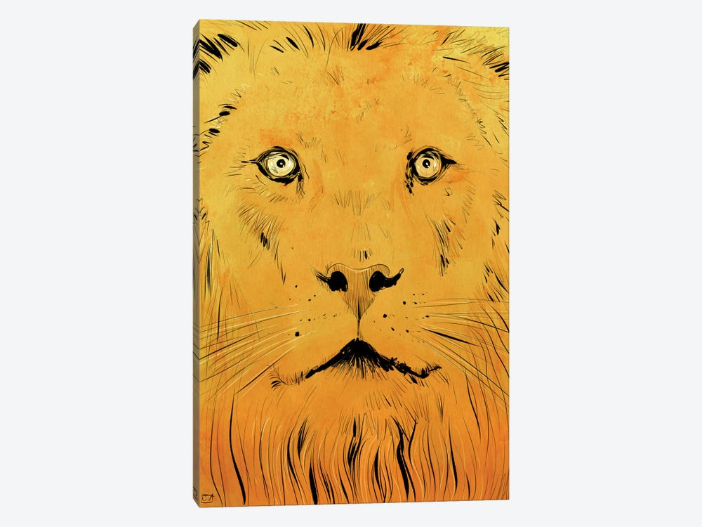 Lion by Giuseppe Cristiano 1-piece Canvas Art Print