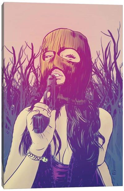Masked Canvas Art Print