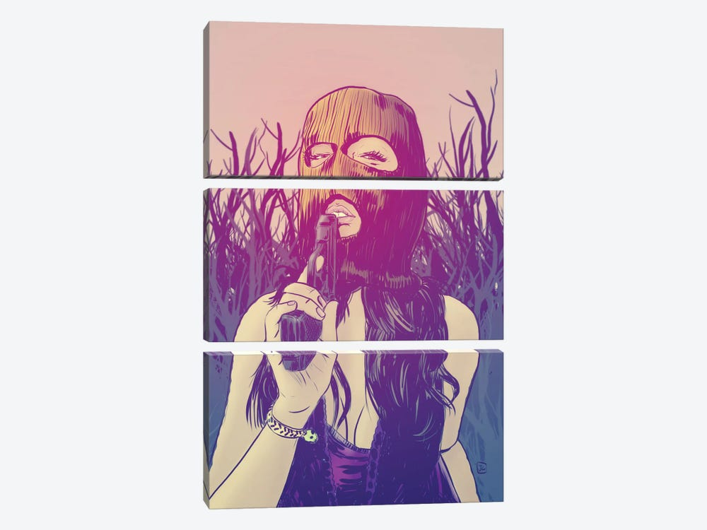 Masked by Giuseppe Cristiano 3-piece Art Print