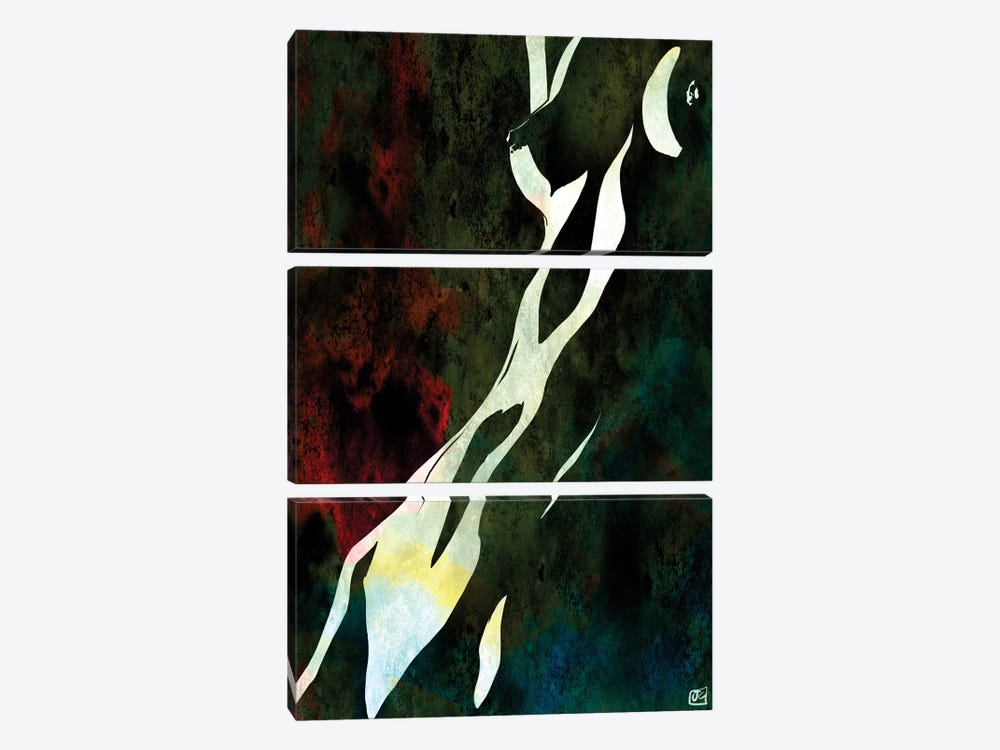 Nude IX by Giuseppe Cristiano 3-piece Canvas Wall Art