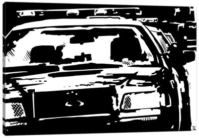 Police Canvas Print #JCR49