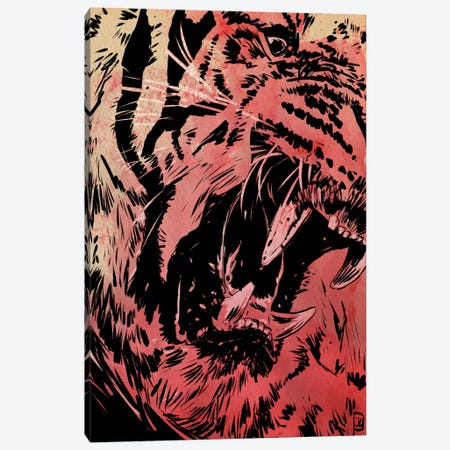 Roar Canvas Print #JCR54} by Giuseppe Cristiano Canvas Wall Art