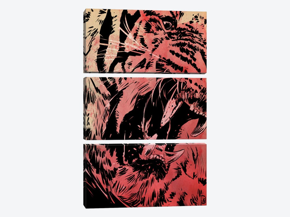 Roar by Giuseppe Cristiano 3-piece Canvas Artwork