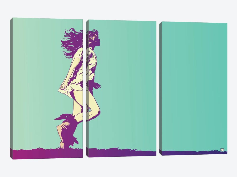 Running Free 3-piece Art Print