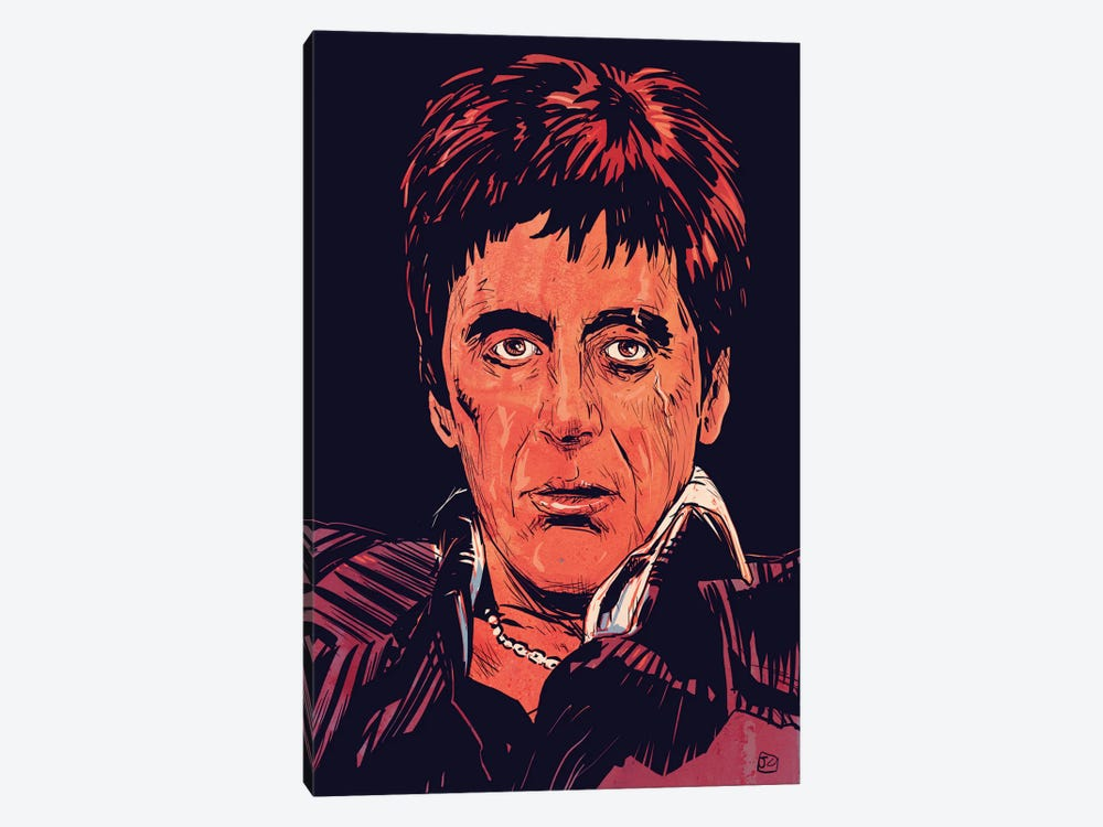 Scarface: Tony Montana by Giuseppe Cristiano 1-piece Canvas Wall Art