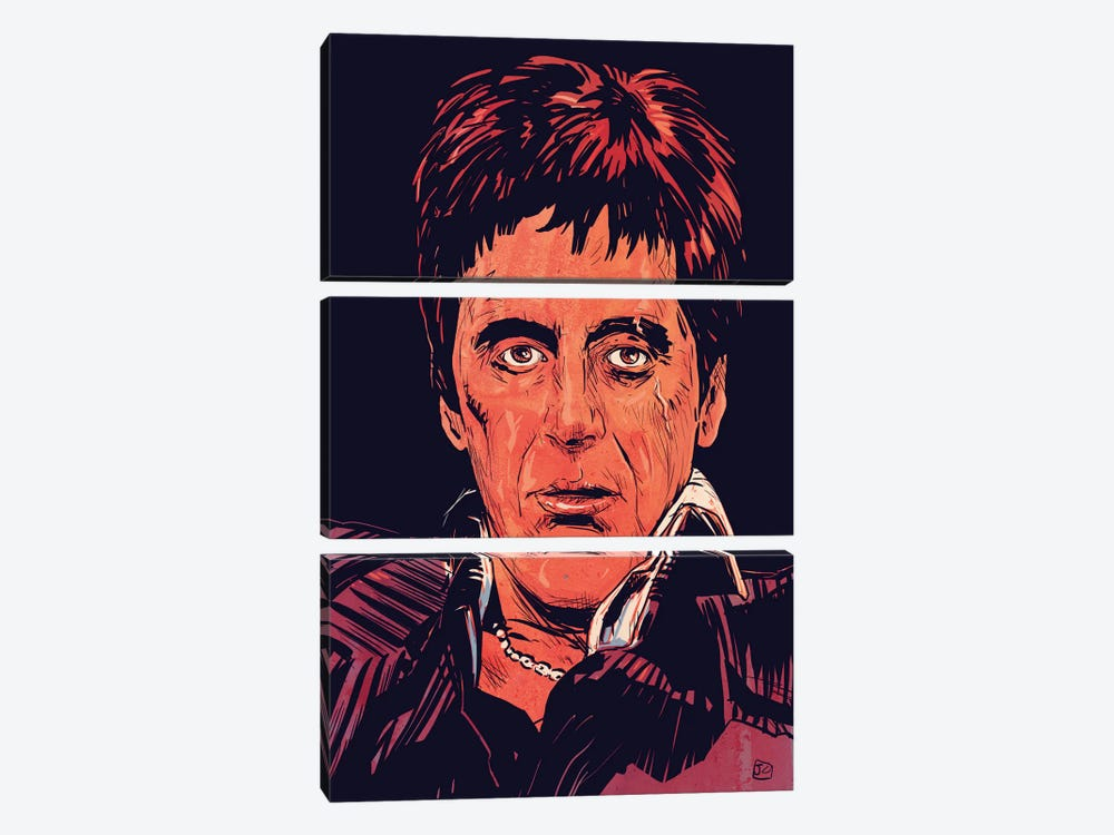 Scarface: Tony Montana by Giuseppe Cristiano 3-piece Canvas Art