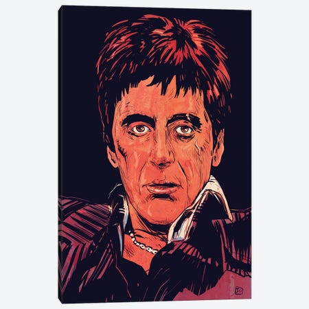 Scarface: Tony Montana Canvas Print #JCR56} by Giuseppe Cristiano Canvas Art