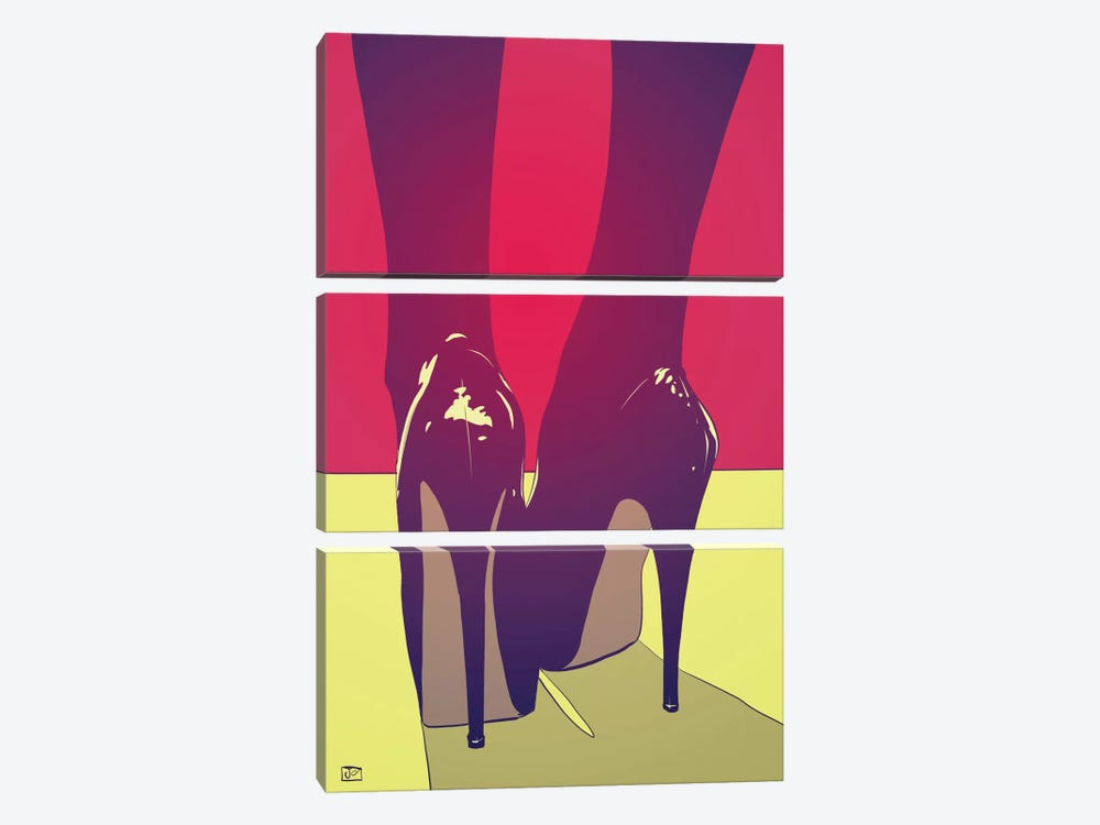 Shoes by Giuseppe Cristiano 3-piece Canvas Art Print