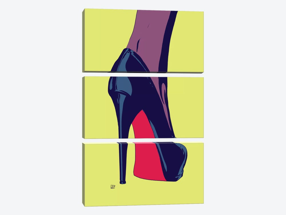 Shoes IV by Giuseppe Cristiano 3-piece Canvas Print