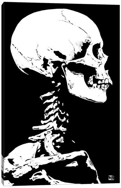 Skeleton Canvas Art Print