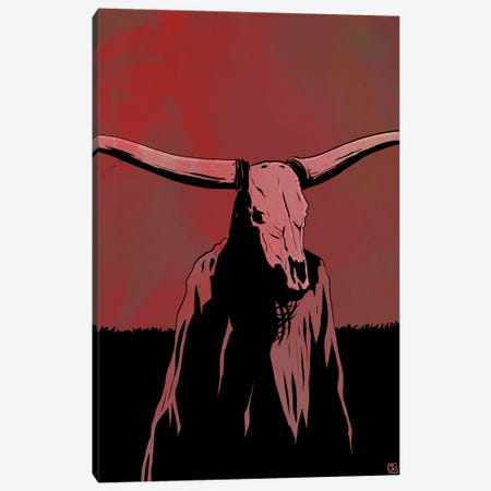Skull Canvas Print #JCR64} by Giuseppe Cristiano Canvas Print