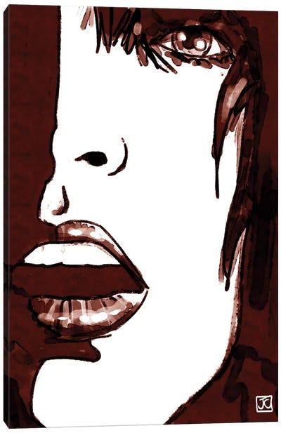 Stare In Red Canvas Print #JCR65
