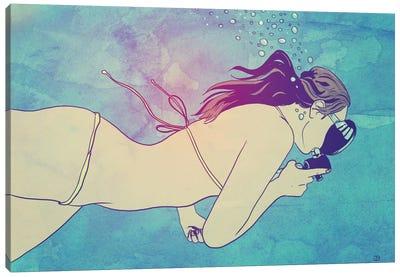 Swimming Girl Canvas Art Print